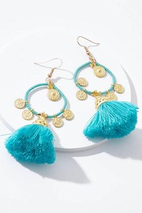 Isle & Tribe Tanis Tassel Earrings