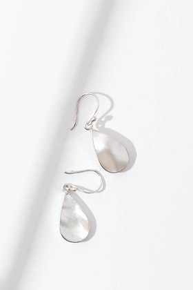 Lush Designs Droplet Pearl Drop Earrings