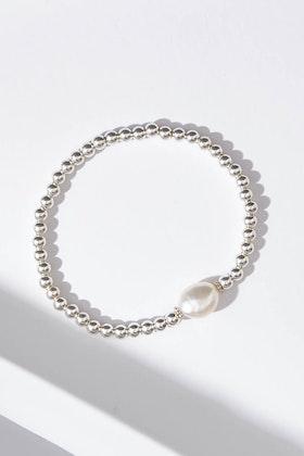 Lush Designs Tayah Keshi Sterling Silver Pearl Bracelet