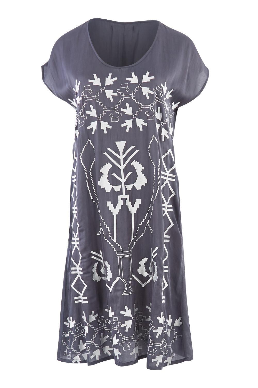 Hammock Vine Embroidered Dress