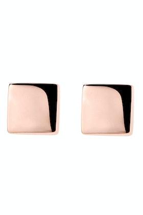 Najo Square Stud Rose Gold Earring