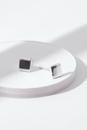 Najo Square Stud Sterling Silver Earring