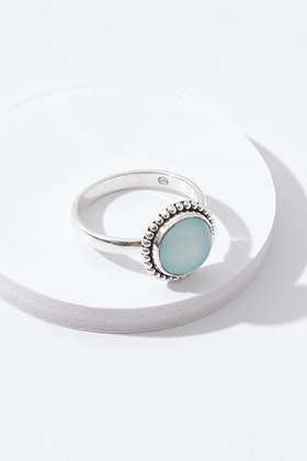 Najo Little Lagoon Chalcedony Sterling Silver Ring