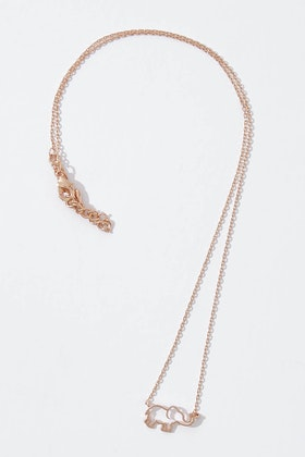 Tiger Tree Elephant Outline Necklace