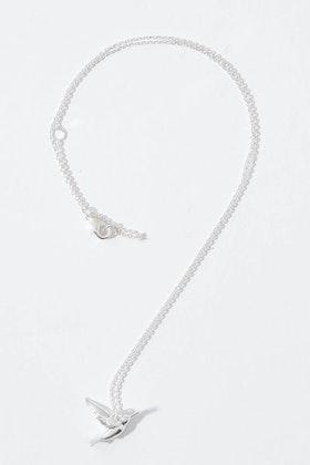 Tiger Tree Humming Bird Necklace
