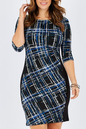Rebecca Ruby Suri Contrast Dress