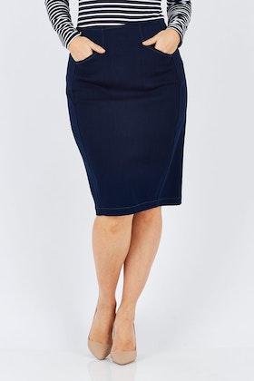 Sacha Drake Denim Skirt