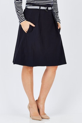 Sacha Drake Belted A-line Skirt