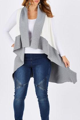 Clarity By Threadz Longline Knit Vest