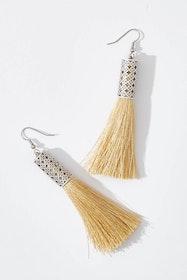 Allegra Silver Tassel Earrings