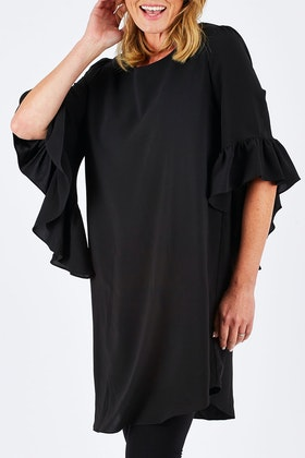 Clarity By Threadz Ruffle Sleeve Dress