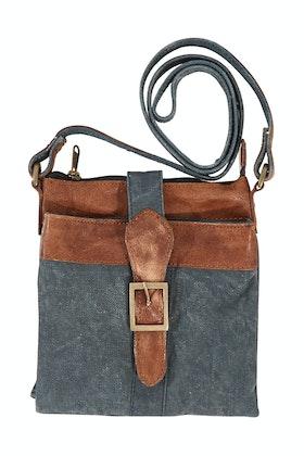 Mona B Intermix Navy Crossbody Bag