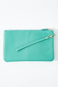 Mighty Purse Rechargeable Wristlet Leather Clutch