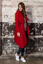 See Saw Cowl Neck Asymetrical Jacket