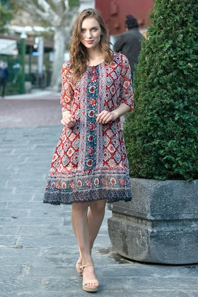Orientique Urbino Print Dress