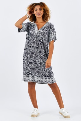 Jump Paisely Print Raglan Dress