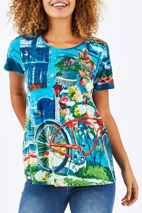 Orientique Scene Printed Tee