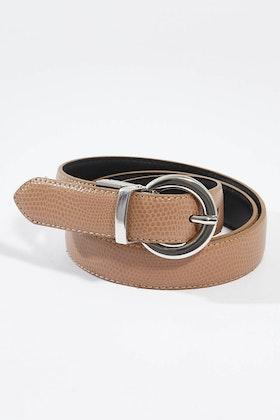 bird keepers The Bella Genuine Reversible Leather Belt