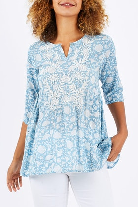 Orientique Cagliari Handmade Print Top