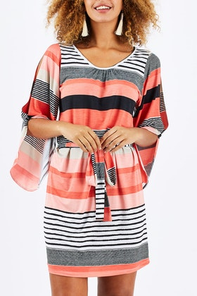 Rebecca Ruby Alexia Split Sleeve Dress