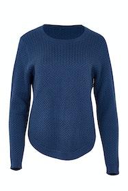 Curve Hem Cable Knit Sweater