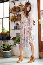 Wish Botanical Ruffle Dress