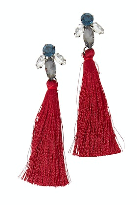 Adorne Jewelled Tassel Earrings