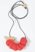 Rare Rabbit Birdie On Wheels Necklace