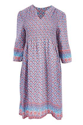 Threadz Printed Flute Sleeve Dress