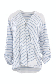 The Stripe Crossover Blouse