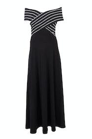 Belle Off Shoulder Stripe Dress