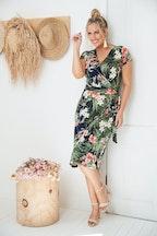 Belle bird Belle Fern Print Wrap Dress