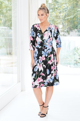 Belle bird Belle Orchid Print Dress