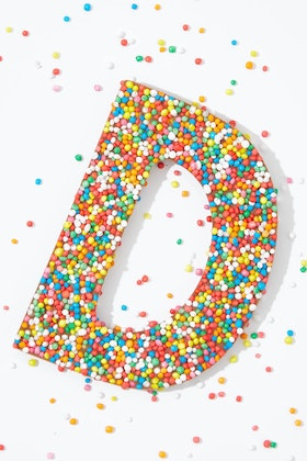 Freckleberry Choc Freckle Letter