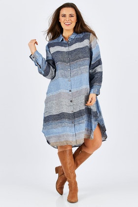 Hammock & Vine Stripe Linen Dress