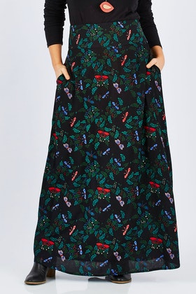 that bird label Rosie Maxi Skirt Paradise