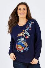 JAG Greta Embroidered Sweat