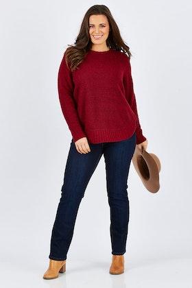 JAG Liza Curved Hem Knit