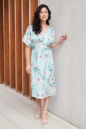bird by design The Printed Kimono Sleeve Dress