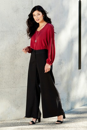 bird by design The Pinstripe Palazzo Pant