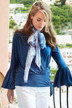 boho bird Wrap Me Up Bamboo Top