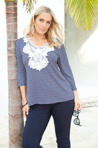 Belle bird Belle Nautical Applique Tee