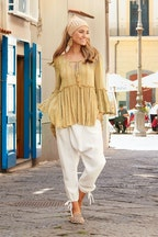 boho bird All For The Romance Blouse