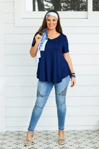 boho bird Softly Swinging Bamboo Tee