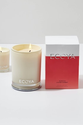 Ecoya Madison Jar Guava And Lychee Candle