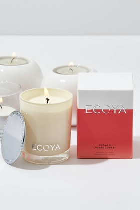 Ecoya Mini Madison Jar Guava And Lychee Candle