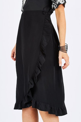 Wite Anna Wrap Skirt