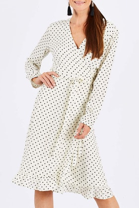 Wite Loire Spot Dress