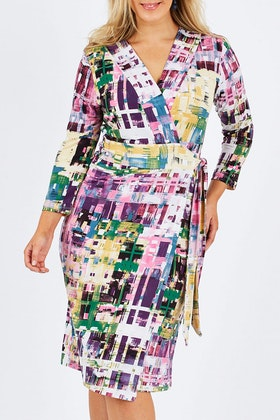 Belle bird Belle Abstract Wrap Dress