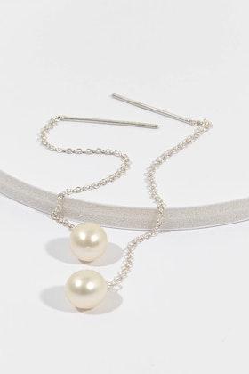 Lush Designs Drop Pull Pearl Earrings